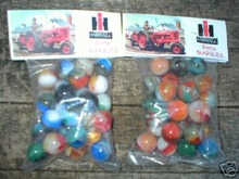 FARMALL TRACTOR BAGS OF MARBLES COLLECTORS MARBLE NR