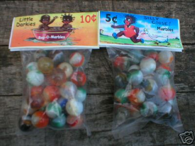 BLACK AMERICANA BAGS OF MARBLES COLLECTORS MARBLE NR