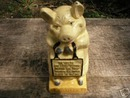 CAST IRON THRIFTY PIG BANK IOWA COLLECTORS ITEM NR