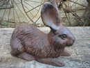 CAST IRON RUSTIC RABBIT IOWA COLLECTORS ITEM NR