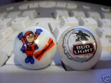BUD MAN AND BUD LIGHT MARBLES