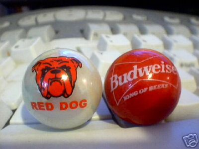 BUDWEISER - RED DOG MARBLES