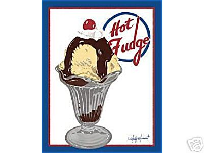 HOT FUDGE SUNDAE SIGN