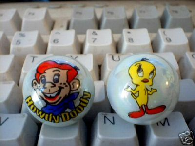 TWEETY BIRD AND HOWDY DOODY MARBLES