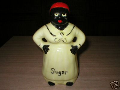 YELLOW MAMMY BLACK AMERICANA SUGAR SHAKER