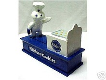 Pillsbury Doughboy Cast Iron Mechanical Bank