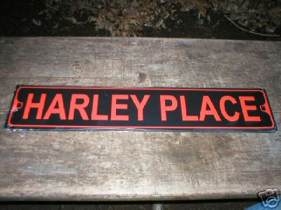 HARLEY PLACE ALUMINUM SIGN COLLECTIBLE METAL SIGNS