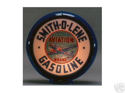 NEW SMITH-O-LENE GASOLINE GAS PUMP GLOBE 13.5