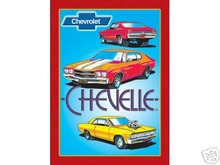 CHEVELLE RETRO TIN METAL SIGN