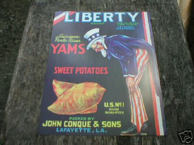 LIBERTY YAMS & SWEET POTATOES PRINT