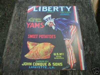 LIBERTY YAMS & SWEET POTATOES PRINT