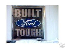 BUILT FORD TOUGH LOGO METAL RETRO ADV SIGNS