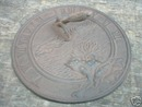 CAST IRON FROG SUNDIAL GARDEN OR DECK ACCENT NR