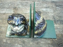 CAST IRON CAT BOOK BOOKENDS
