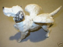 CAST IRON HUNTING DOG SETTER w/ WINGS NR