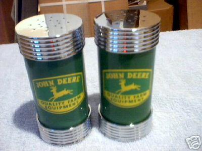 JOHN DEERE SALT & PEPPER SHAKERS