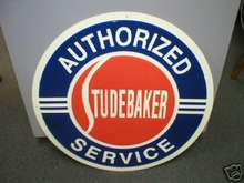 STUDEBAKER AUTHORIZED SERVICE SIGN METAL ADV SIGNS