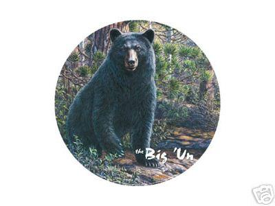 BEAR ROUND METAL SIGN