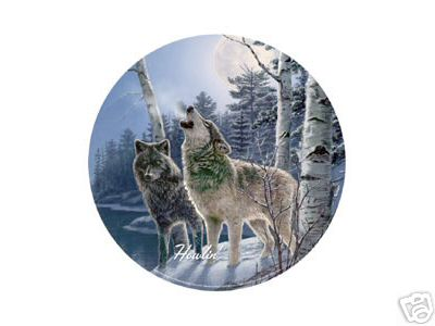 WOLVES TIN SIGN COLLECTIBLE METAL SIGNS