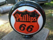 NEW PHILLIPS 66 GAS PUMP GLOBE SIGN P