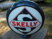 SKELLY GAS PUMP GLOBE OIL GASOLINE STATION SIGN