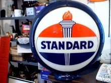 STANDARD OIL GAS PUMP GLOBE OIL GASOLINE STATION