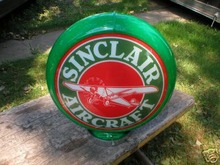 SINCLAIR AIRCRAFT GAS PUMP GLOBE SIGN