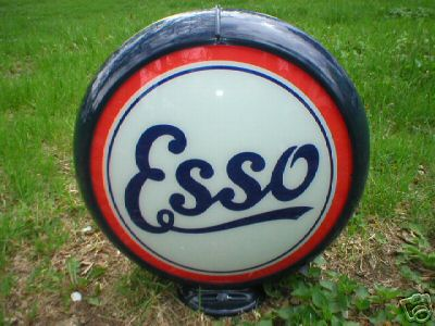 NEW ESSO GAS PUMP GLOBE OIL GASOLINE STATION COLLECTOR