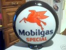 MOBILGAS SPECIAL GAS PUMP GLOBE OIL GASOLINE STATION