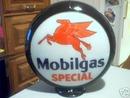 MOBILGAS SPECIAL GAS PUMP GLOBE OIL GASOLINE STATION