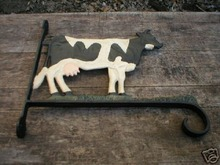Cast Iron Cow Plant Holder Metal Wall Hanging Bracket