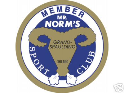 MR. NORM'S SPORT CLUB SIGN LARGE METAL SIGNS NIB