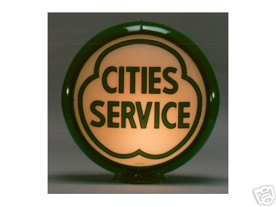 NEW CITIES SERVICE GASOLINE GAS PUMP GLOBE