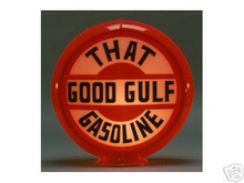 GO0D GULF GASOLINE GAS PUMP GLOBE SIGN 13.5
