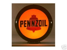 PENNZOIL GASOLINE GAS PUMP GLOBE SIGN 13.5
