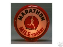 MARATHON GASOLINE GAS PUMP GLOBE SIGN 13.5