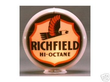 RICHFIELD HI-OCTANE GAS PUMP GLOBE SIGN