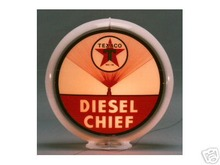 TEXACO DIESEL CHIEF GAS PUMP GLOBE SIGN
