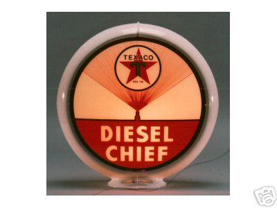 TEXACO DIESEL CHIEF GAS PUMP GLOBE SIGN