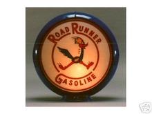 ROAD RUNNER GASOLINE GAS PUMP GLOBE SIGN