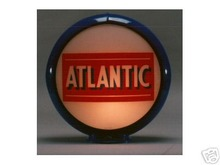 ATLANTIC GASOLINE GAS PUMP GLOBE SIGN