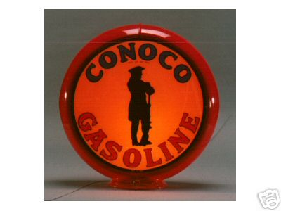 NEW CONOCO GASOLINE GAS PUMP GLOBE 13.5