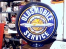 OLDSMOBILE SERVICE GAS GLOBE