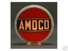 AMOCO GASOLINE GAS PUMP GLOBE SIGN