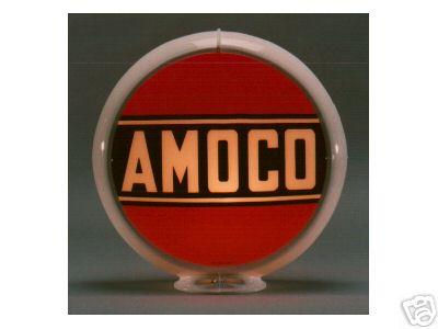AMOCO GASOLINE GAS PUMP GLOBE SIGN