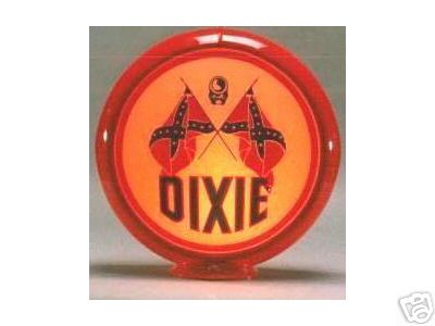 DIXIE GAS PUMP GLOBE SIGN D 13.5