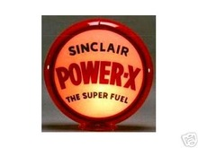 SINCLAIR POWER-X  GASPUMP GLOBE SIGNS 13.5