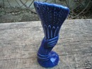 COBALT PORCELAIN McCOY HAND VASE DECORATIVE COLLECTIBLE