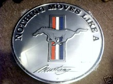 ROUND MUSTANG SIGN
