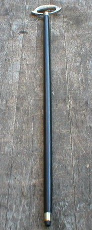 WALKING STICK NICKEL - PLATED HANDLE CANE